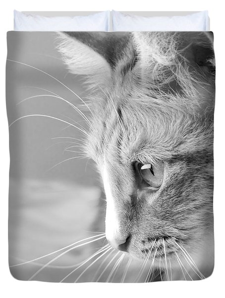Flitwick The Cat Duvet Cover by Jeannette Hunt