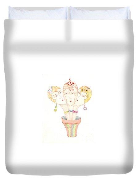 Flower Pot Ladies Duvet Cover