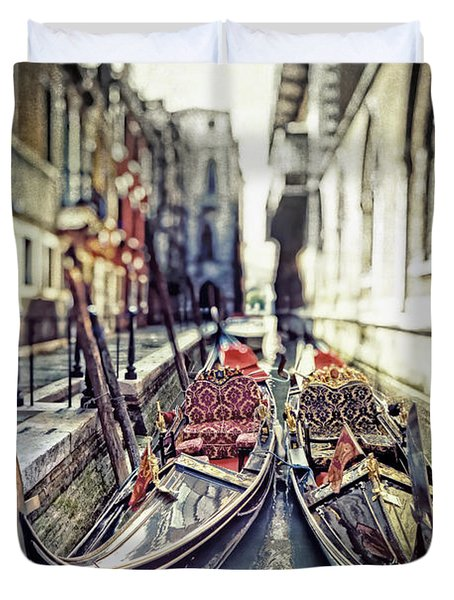 Gondolas Duvet Cover by Joana Kruse