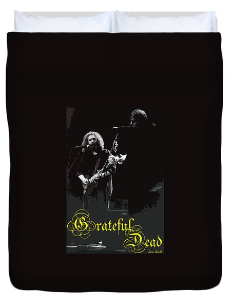 Duvet Cover featuring the photograph Grateful Dead  by Susan Carella