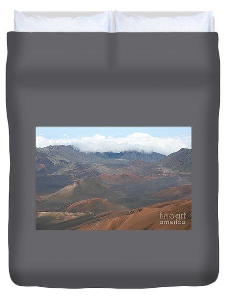 Haleakala Volcano Maui Hawaii Duvet Cover by Sharon Mau