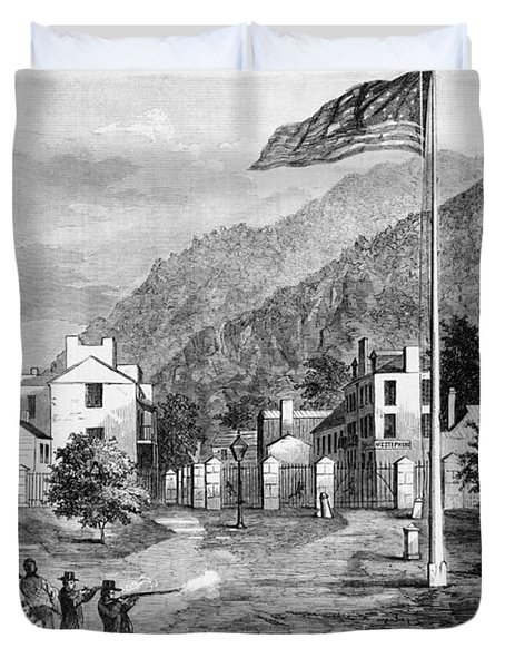 Harpers Ferry Insurrection, 1859 Duvet Cover by Photo Researchers