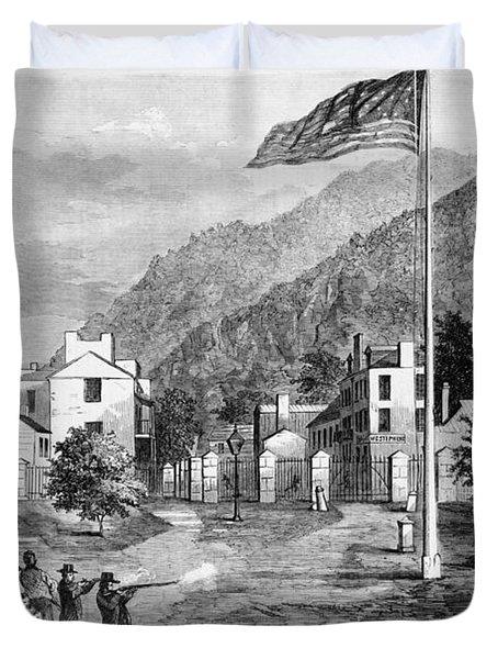 Harpers Ferry Insurrection, 1859 Duvet Cover