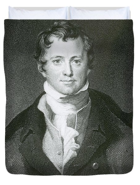 Humphry Davy, English Chemist Duvet Cover by Science Source