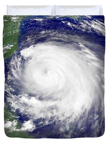 Hurricane Frances Duvet Cover