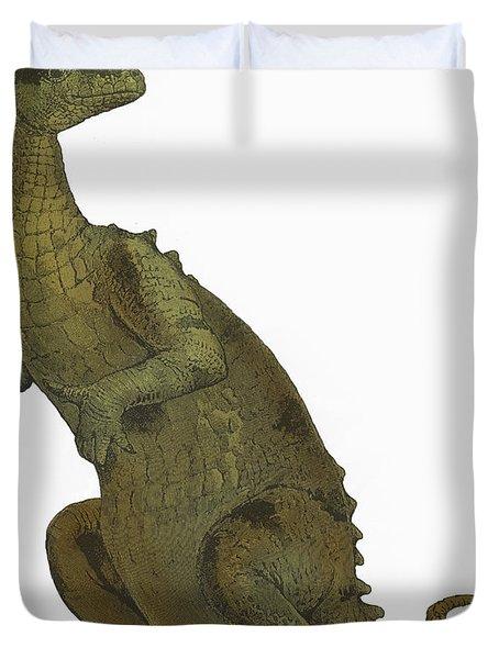 Iguanodon, Mesozoic Dinosaur Duvet Cover by Science Source