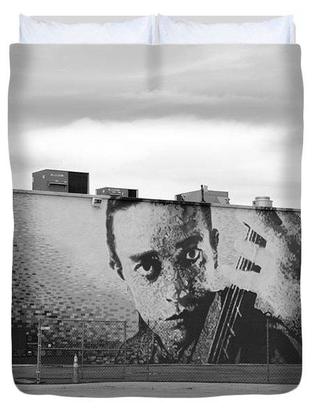 Johnny Cash Duvet Cover by Rob Hans