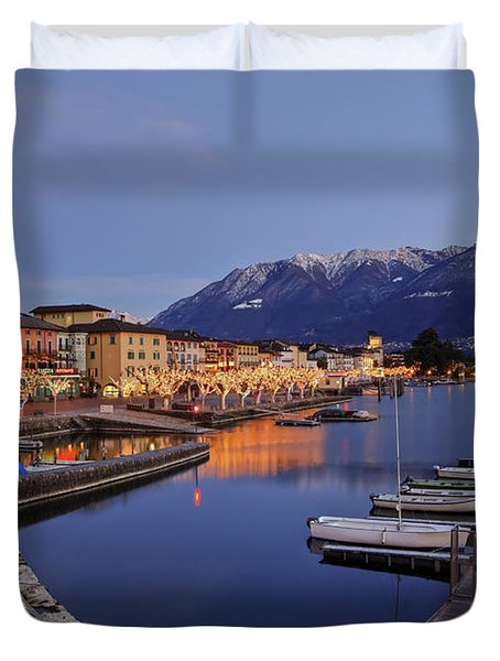 Lake Maggiore - Ascona Duvet Cover by Joana Kruse