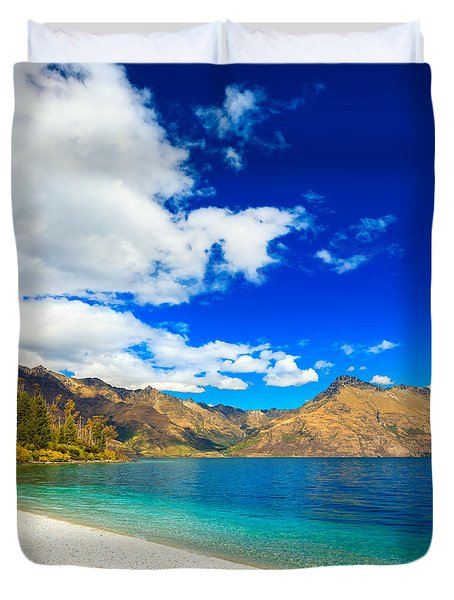 Lake Wakatipu Duvet Cover by MotHaiBaPhoto Prints