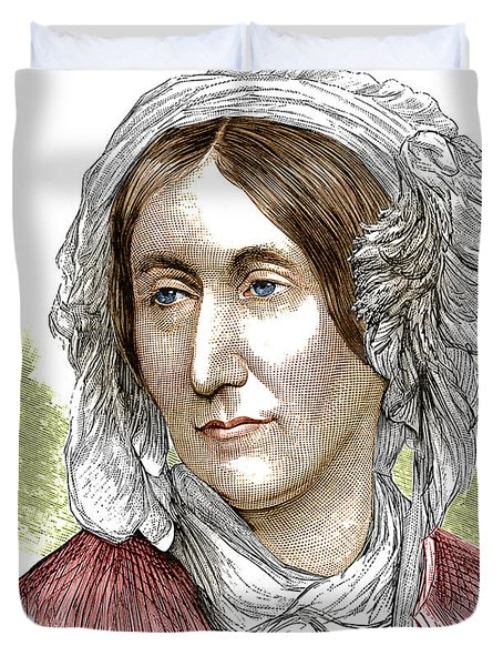 Mary Somerville, Scottish Polymath Duvet Cover by Science Source