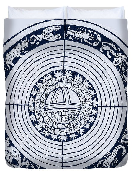 Medieval Zodiac Duvet Cover by Science Source