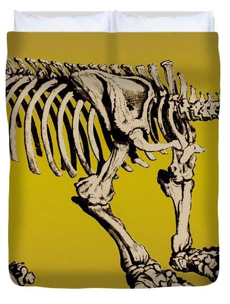 Megatherium, Extinct Ground Sloth Duvet Cover by Science Source