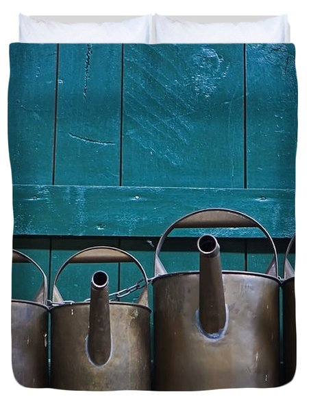 Old Watering Cans Duvet Cover by Joana Kruse