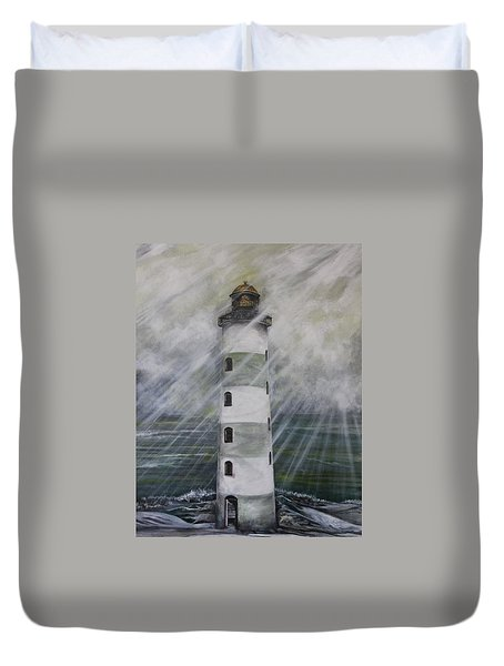 Point Lookout Lighthouse Duvet Cover