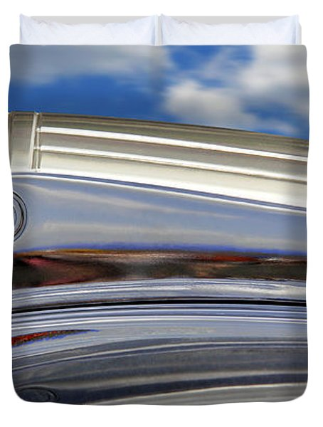 Pontiac Hood Ornament Duvet Cover by Mike McGlothlen