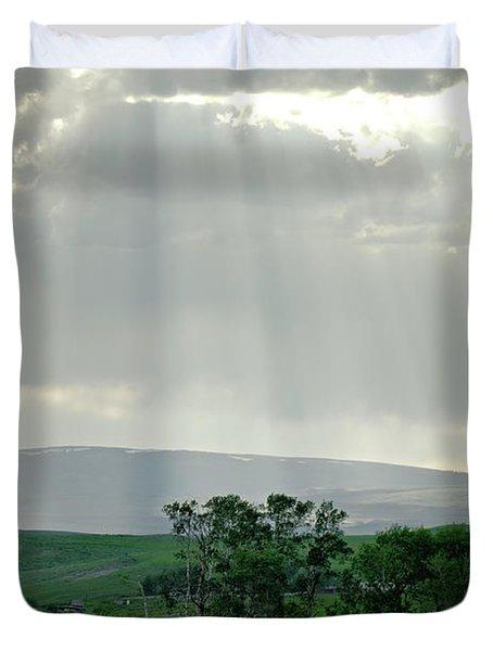 Rain Sun Rays Duvet Cover by Roderick Bley