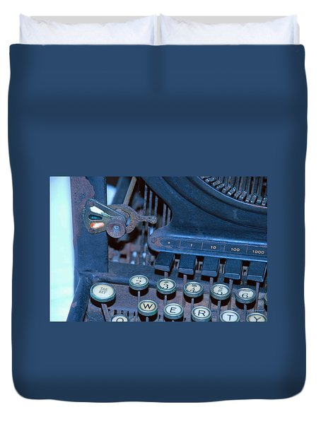 Duvet Cover featuring the photograph Remington 11 Detail by Kay Lovingood