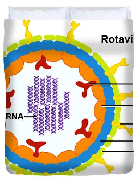 Rotavirus Duvet Cover by Science Source
