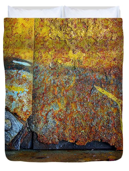 Rust Colors Duvet Cover by Carlos Caetano