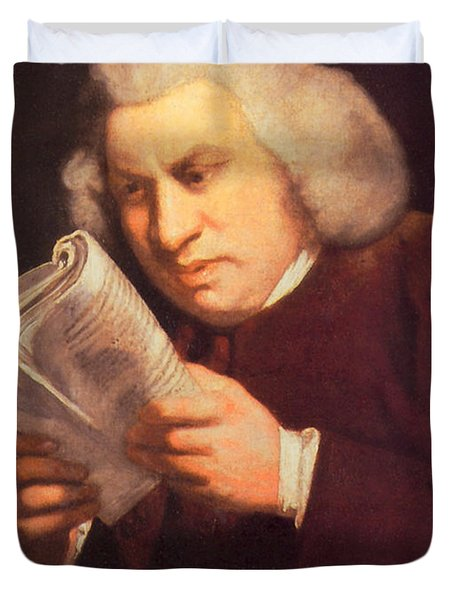 Samuel Johnson, English Author Duvet Cover by Photo Researchers