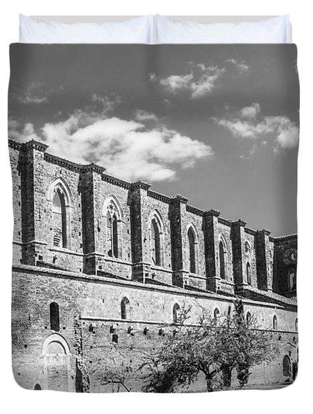 San Galgano Abbey Duvet Cover by Ralf Kaiser