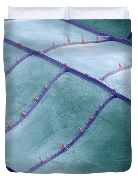 Sem Of Dragonfly Wing Duvet Cover by Ted Kinsman