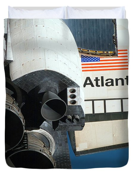 Space Shuttle Atlantis Duvet Cover by Stocktrek Images