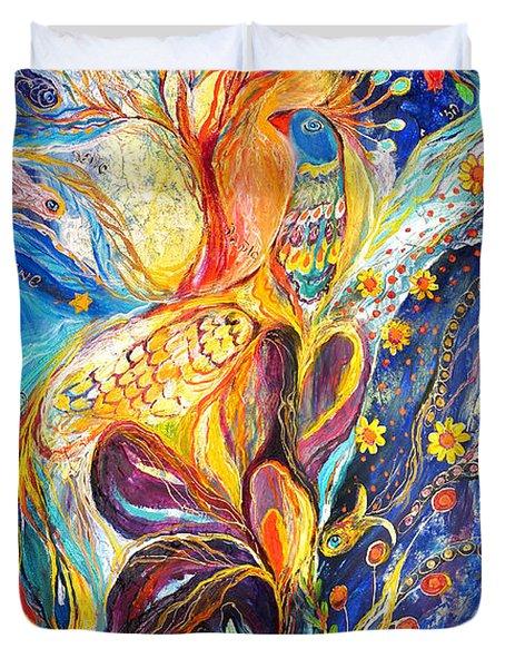 The King Bird Duvet Cover by Elena Kotliarker