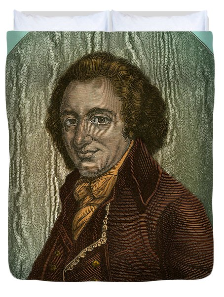 Thomas Paine, American Patriot Duvet Cover by Photo Researchers
