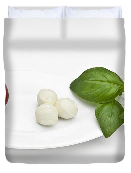 Tomato Mozzarella Duvet Cover by Joana Kruse
