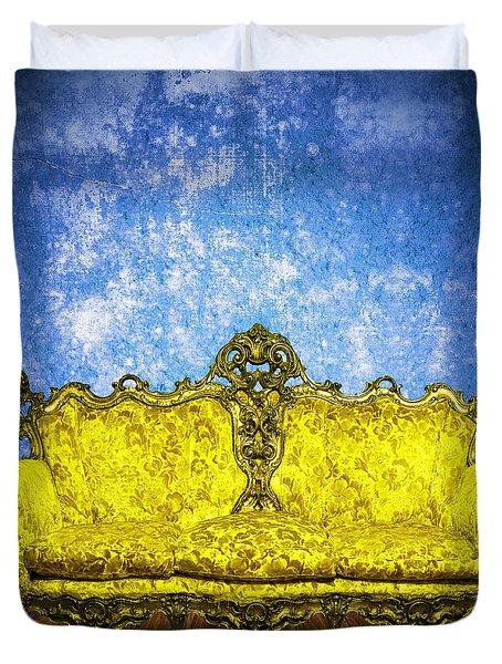 Victorian Sofa In Retro Room Duvet Cover by Setsiri Silapasuwanchai