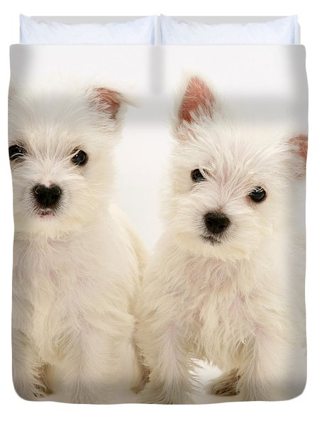 West Highland White Terriers Duvet Cover by Jane Burton