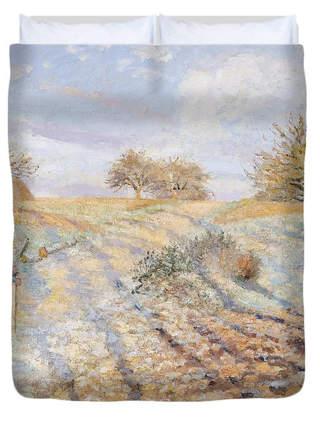 White Frost Duvet Cover by Camille Pissarro