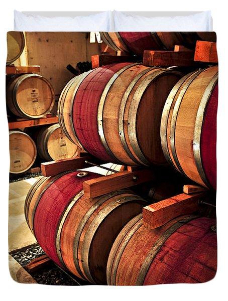 Wine Barrels Duvet Cover by Elena Elisseeva
