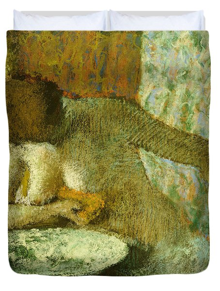 Woman At Her Toilet Duvet Cover by Edgar Degas