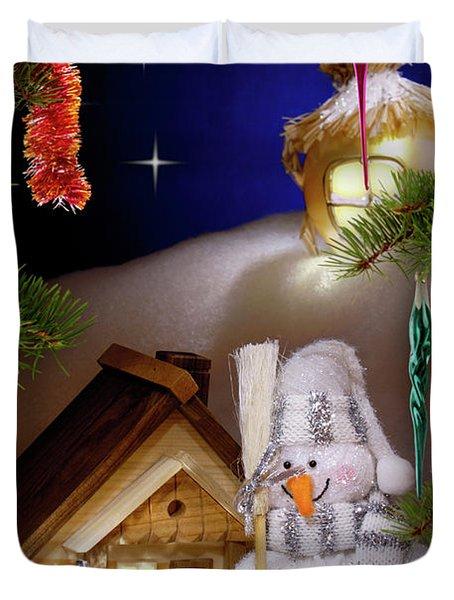 Wonderful Christmas Still Life Duvet Cover by Oleksiy Maksymenko