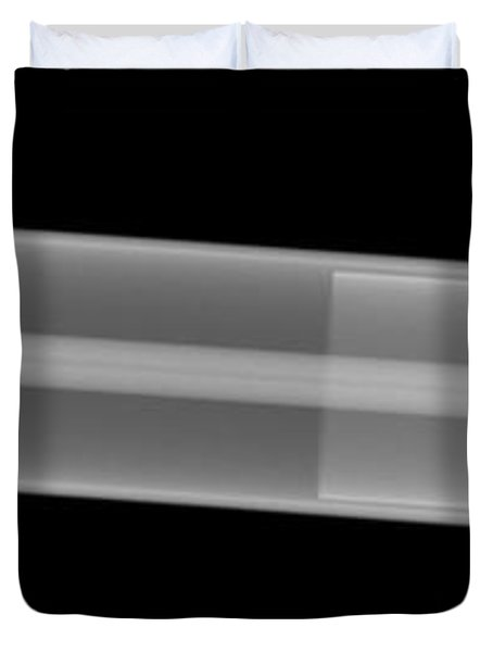 X-ray Of A Laser Tube Duvet Cover by Ted Kinsman