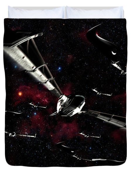 Xeelee Nightfighters, Inspired Duvet Cover by Rhys Taylor