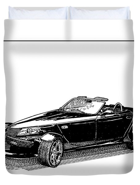 2000 Plymouth Prowler Duvet Cover by Jack Pumphrey