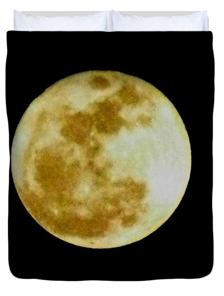Duvet Cover featuring the photograph 2011 Full Moon by Maria Urso