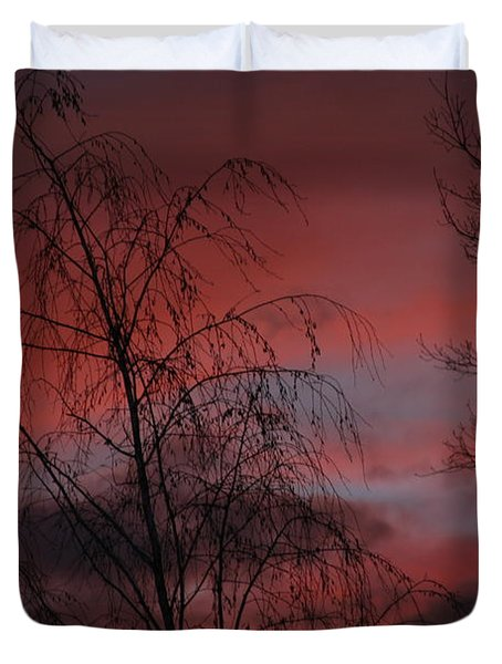 Duvet Cover featuring the photograph 2011 Sunset 1 by Paul SEQUENCE Ferguson             sequence dot net