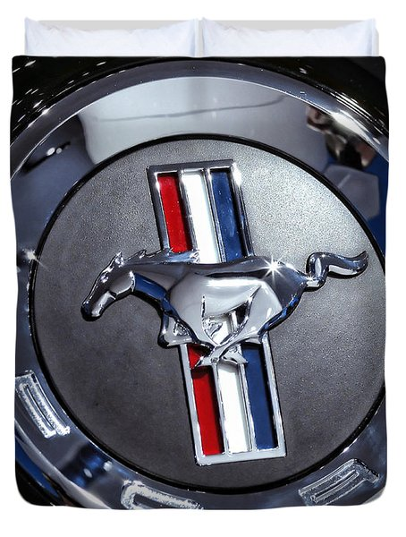 2012 Ford Mustang Trunk Emblem Duvet Cover
