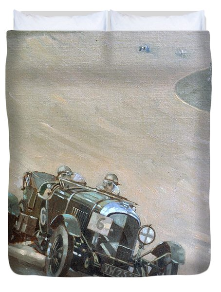 24 Hour Race At Brookland Duvet Cover