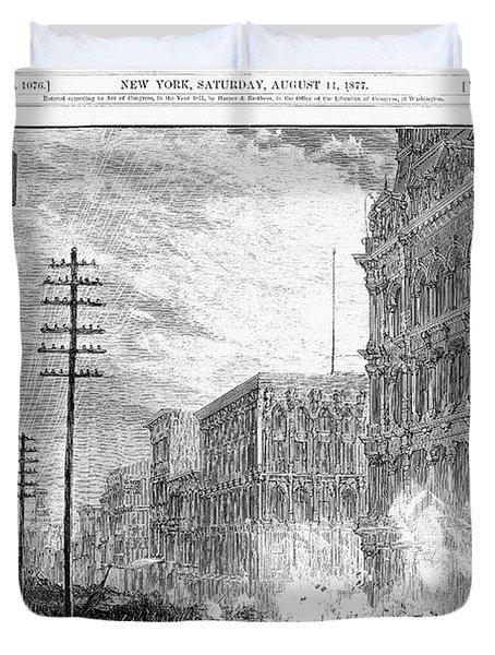 Great Railroad Strike, 1877 Duvet Cover