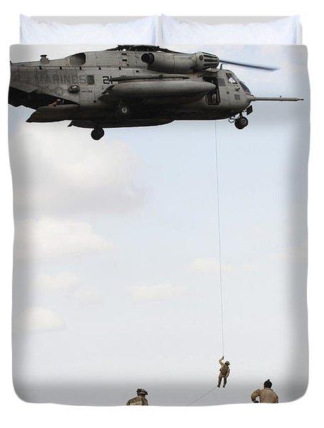 Air Force Pararescuemen Conduct Duvet Cover by Stocktrek Images