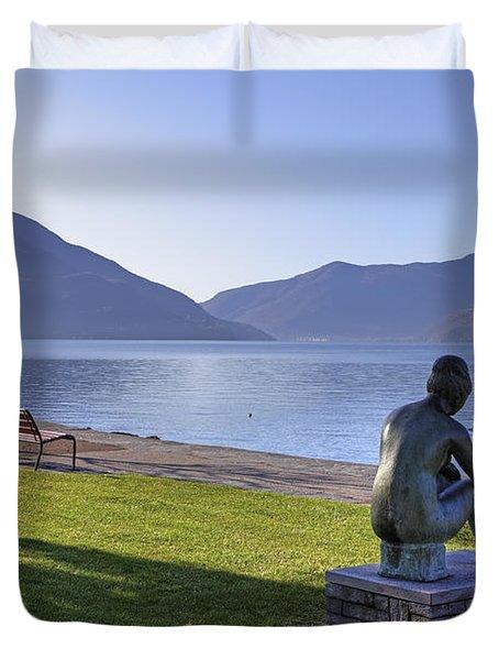 Ascona - Lake Maggiore Duvet Cover by Joana Kruse