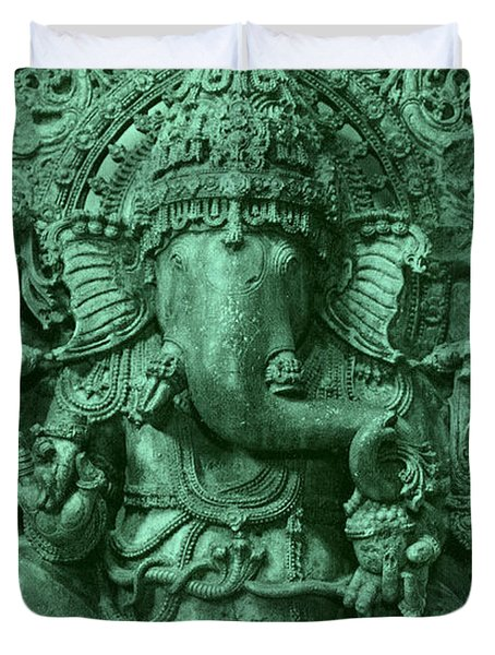 Ganesha, Hindu God Duvet Cover by Photo Researchers
