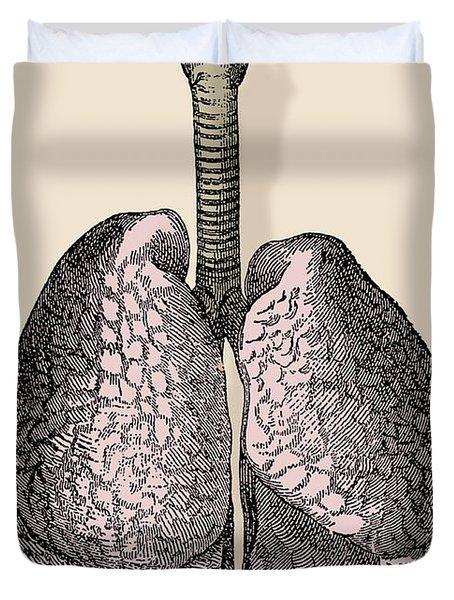 Human Lungs Duvet Cover