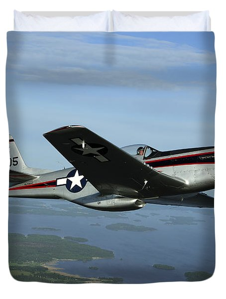 North American P-51 Cavalier Mustang Duvet Cover by Daniel Karlsson