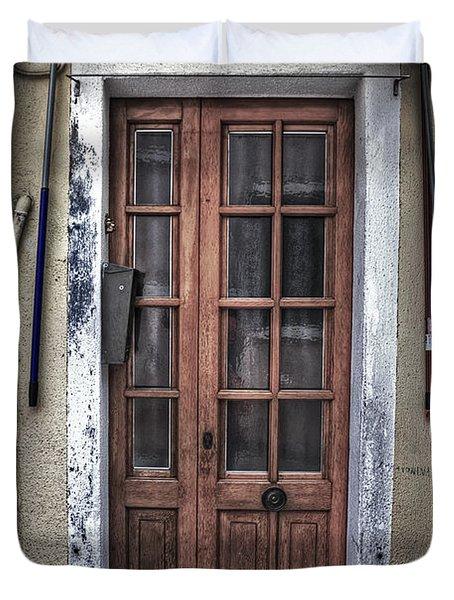 Old Italian Door Duvet Cover